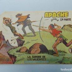 Tebeos: COMIC, APACHE 2ª PARTE Nº 34, LA SANGRE DE LOS VALIENTES, EDITORIAL MAGA, 1958 - ORIGINAL ... L491. Lote 184100866