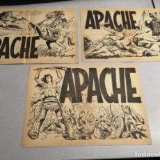 Tebeos: APACHE 3 FOLLETOS DE PUBLICIDAD / MAGA ORIGINAL. Lote 184562652