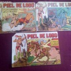 Tebeos: PIEL DE LOBO. 3 NÚMEROS. Lote 186227737