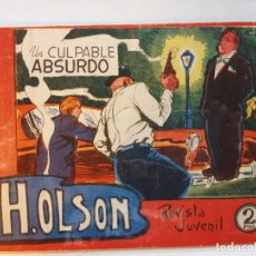 Tebeos: H.OLSON Nº 10, EDITORIAL MAGA-. Lote 187087945