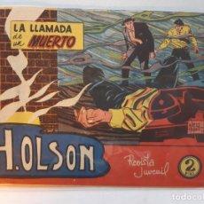 Tebeos: H.OLSON Nº 1-, EDITORIAL MAGA-EXCELENTE ESTADO. Lote 187088523
