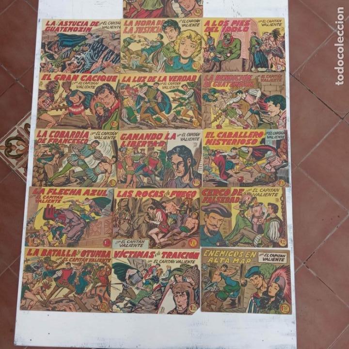Tebeos: EL CAPITÁN VALIENTE ORIGINAL LOTE 2 AL 18 MENOS EL 15, MAGNÍFICO ESTADO, VER TODAS LAS PORTADAS - Foto 13 - 188515530