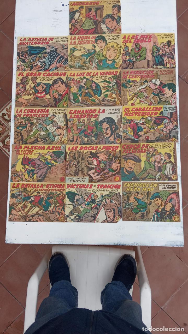 Tebeos: EL CAPITÁN VALIENTE ORIGINAL LOTE 2 AL 18 MENOS EL 15, MAGNÍFICO ESTADO, VER TODAS LAS PORTADAS - Foto 14 - 188515530