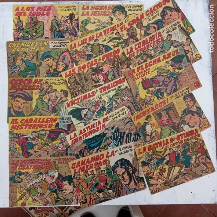 Tebeos: EL CAPITÁN VALIENTE ORIGINAL LOTE 2 AL 18 MENOS EL 15, MAGNÍFICO ESTADO, VER TODAS LAS PORTADAS - Foto 15 - 188515530