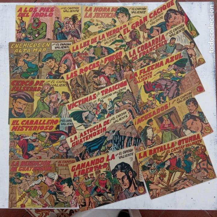 EL CAPITÁN VALIENTE ORIGINAL LOTE 2 AL 18 MENOS EL 15, MAGNÍFICO ESTADO, VER TODAS LAS PORTADAS (Tebeos y Comics - Maga - Otros)
