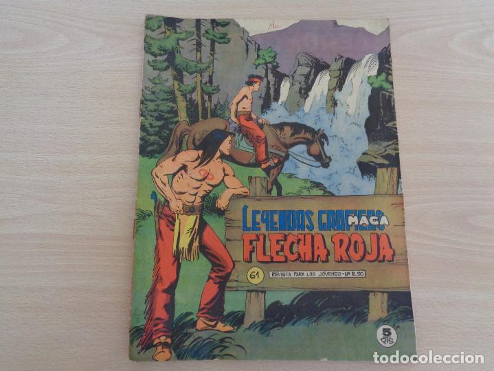 FLECHA ROJA 61. LEYENDAS GRÁFICAS. EDITA MAGA. CON CUADERNILLO EN COLOR. MUY BUEN ESTADO (Tebeos y Comics - Maga - Flecha Roja)