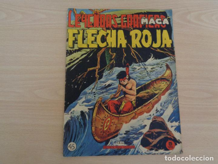 LEYENDAS GRÁFICAS FLECHA ROJA 45. EDITA MAGA. (Tebeos y Comics - Maga - Flecha Roja)