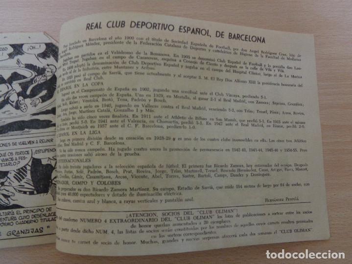 Tebeos: Oliman núm. 28. Nivelando el Marcador. Original. Edita Maga. RCD Español en contraportada. - Foto 3 - 188755133