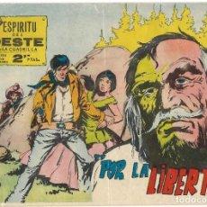 Tebeos: ESPÍRITU DEL OESTE - SERIE LA CUADRILLA Nº 42 - AÑO 1963 - BUEN ESTADO. Lote 190737860