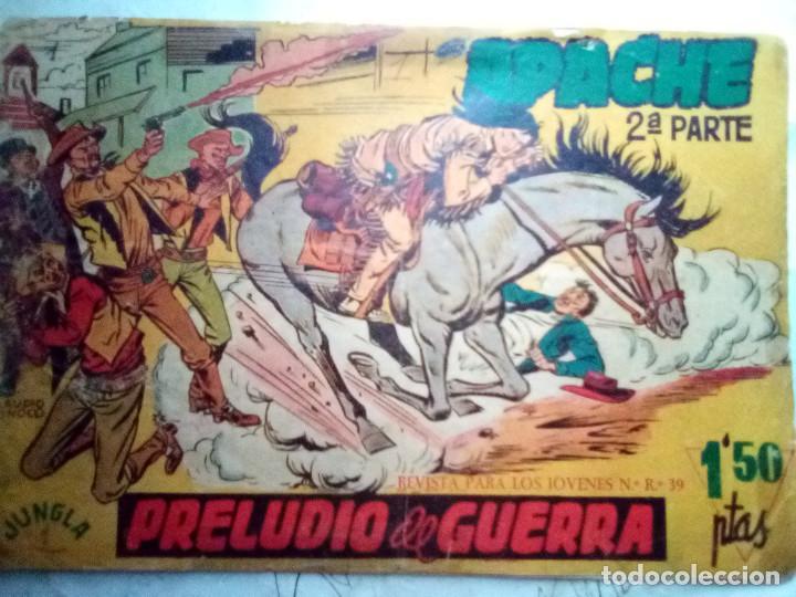 APACHE-II PARTE-Nº 1 -PRELUDIO DE GUERRA-1960-GRAN CALUDIO TINOCO-MUY DIFÍCIL-CORRECTO-LEAN-2900 (Tebeos y Comics - Maga - Apache)