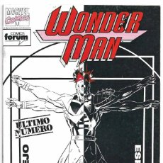 Tebeos: WONDER MAN FORUM 1992 ULTIMO, - LEER Y VER FOTOS. Lote 191470550