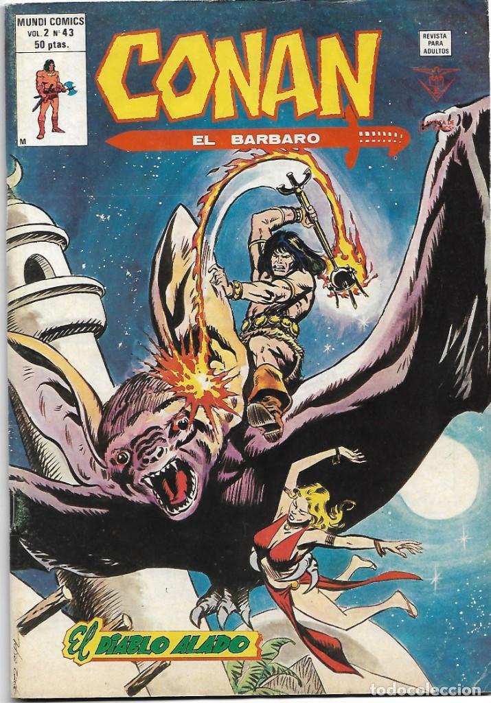 CONAN EL BARBARO VL.2 Nº 43 VERTICE 1974 ULTIMO, - IMPORTANTE LEER Y VER FOTOS (Tebeos y Comics - Maga - Apache)