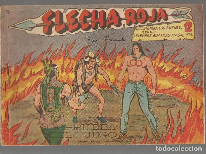 FLECHA ROJA. Nº 5. ORIGINAL MAGA, 1962.(P/C58) (Tebeos y Comics - Maga - Flecha Roja)