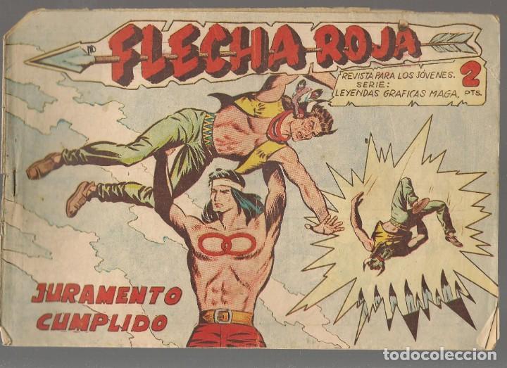 FLECHA ROJA. Nº 20. ORIGINAL MAGA, 1962.(P/C58) (Tebeos y Comics - Maga - Flecha Roja)