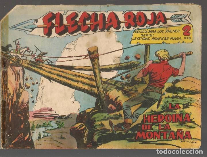 FLECHA ROJA. Nº 78. ORIGINAL MAGA, 1962.(P/C58) (Tebeos y Comics - Maga - Flecha Roja)