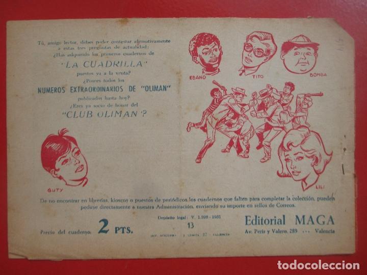 Tebeos: 4 TEBEOS EL CRUZADO NEGRO, Nº 8-13-21-26 ED. MAGA - Foto 2 - 191796781