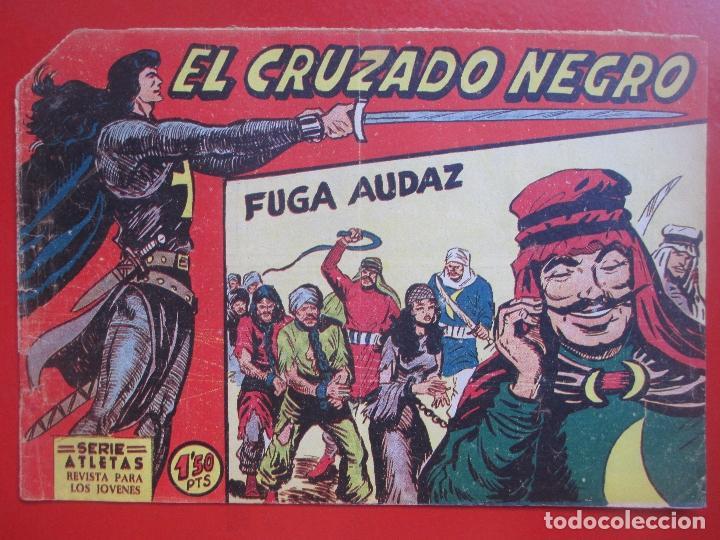 Tebeos: 4 TEBEOS EL CRUZADO NEGRO, Nº 8-13-21-26 ED. MAGA - Foto 7 - 191796781