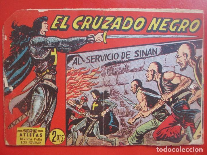 4 TEBEOS EL CRUZADO NEGRO, Nº 8-13-21-26 ED. MAGA (Tebeos y Comics - Maga - Otros)