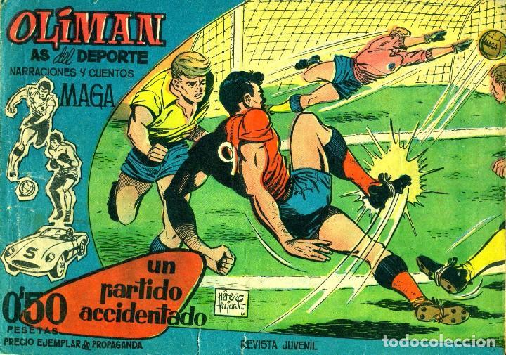 OLIMÁN AS DEL DESPORTE-1 (MAGA, 1961) DE PÉREZ FAJARDO (Tebeos y Comics - Maga - Oliman)