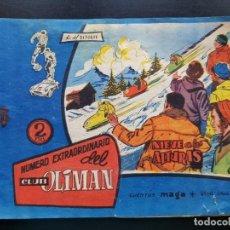 Livros de Banda Desenhada: TEBEO / CÓMIC ORIGINAL EXTRA OLIMÁN AS DEL DEPORTE MAGA NIEVE EN LAS ALTURAS 1964. Lote 191902595