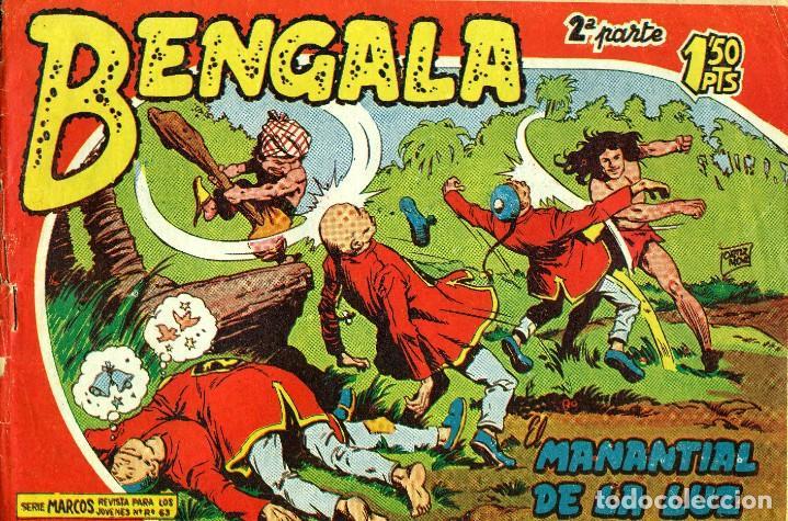 BENGALA SEGUNDA PARTE (MAGA, 1960) COMPLETA: 45 NÚMEROS. PORTADAS DE JOSÉ ORTIZ (Tebeos y Comics - Maga - Bengala)