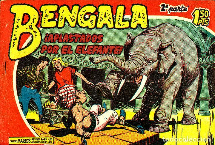 Tebeos: BENGALA SEGUNDA PARTE (MAGA, 1960) COMPLETA: 45 NÚMEROS. PORTADAS DE JOSÉ ORTIZ - Foto 5 - 191934215
