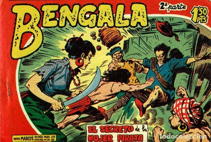 Tebeos: BENGALA SEGUNDA PARTE (MAGA, 1960) COMPLETA: 45 NÚMEROS. PORTADAS DE JOSÉ ORTIZ - Foto 7 - 191934215
