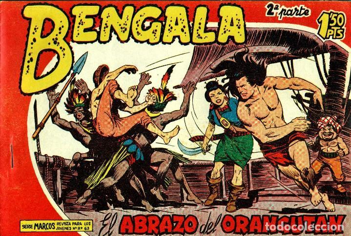 Tebeos: BENGALA SEGUNDA PARTE (MAGA, 1960) COMPLETA: 45 NÚMEROS. PORTADAS DE JOSÉ ORTIZ - Foto 8 - 191934215