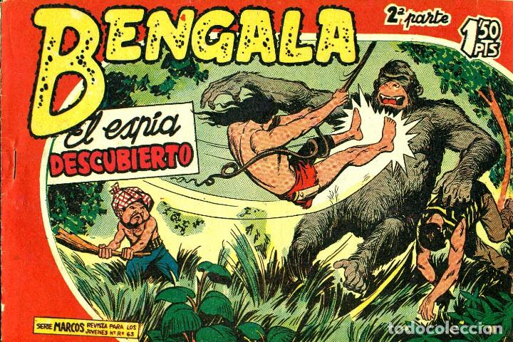 Tebeos: BENGALA SEGUNDA PARTE (MAGA, 1960) COMPLETA: 45 NÚMEROS. PORTADAS DE JOSÉ ORTIZ - Foto 10 - 191934215