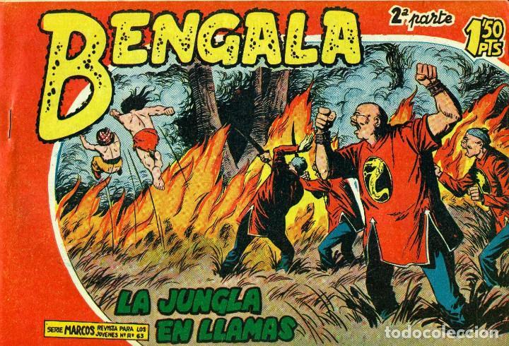 Tebeos: BENGALA SEGUNDA PARTE (MAGA, 1960) COMPLETA: 45 NÚMEROS. PORTADAS DE JOSÉ ORTIZ - Foto 11 - 191934215