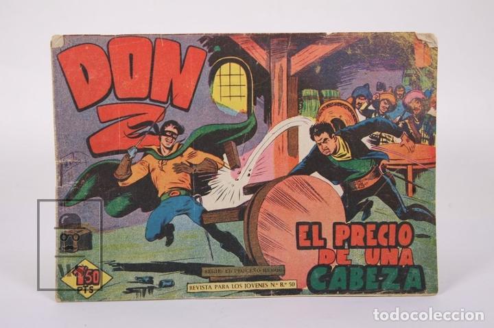 Tebeos: Antiguo Cómic - Don Z / El Precio de una Cabeza Nº 16 - Ediciones Maga - Año 1959 - Foto 2 - 192153020
