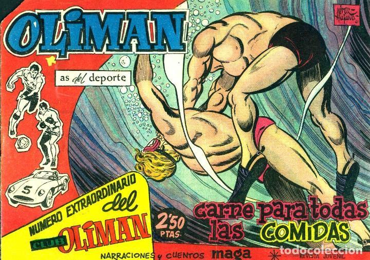 Tebeos: OLIMAN NÚMERO EXTRAORTDINARIO (MAGA, 1961) COLECCIÓN COMPLETA: 24 NÚMEROS. DE PÉREZ FAJARDO Y OTROS - Foto 3 - 192233342