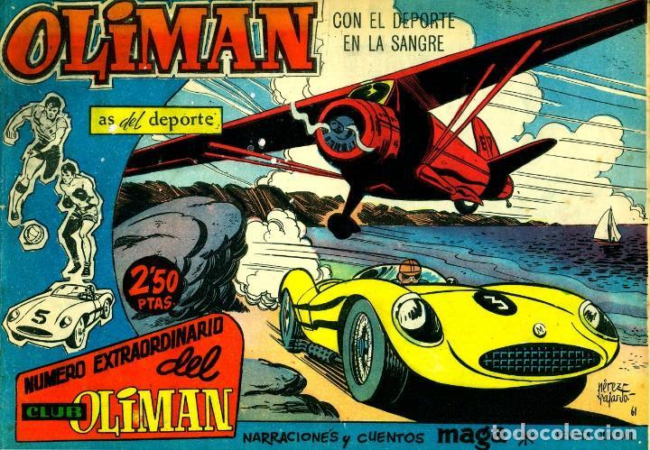 Tebeos: OLIMAN NÚMERO EXTRAORTDINARIO (MAGA, 1961) COLECCIÓN COMPLETA: 24 NÚMEROS. DE PÉREZ FAJARDO Y OTROS - Foto 4 - 192233342
