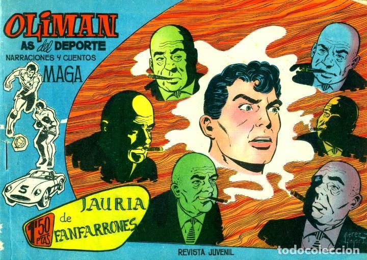 Tebeos: OLIMAN (MAGA, 1961) COLECCIÓN COMPLETA: 105 EJEMPLARES MÁS EL ÁLBUM DE LA SELECCIÓN ESPAÑOLA - Foto 3 - 192234647