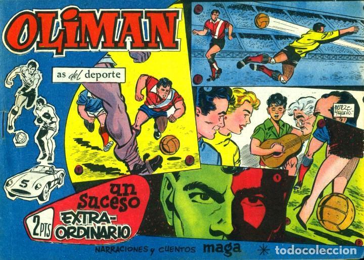 Tebeos: OLIMAN (MAGA, 1961) COLECCIÓN COMPLETA: 105 EJEMPLARES MÁS EL ÁLBUM DE LA SELECCIÓN ESPAÑOLA - Foto 8 - 192234647