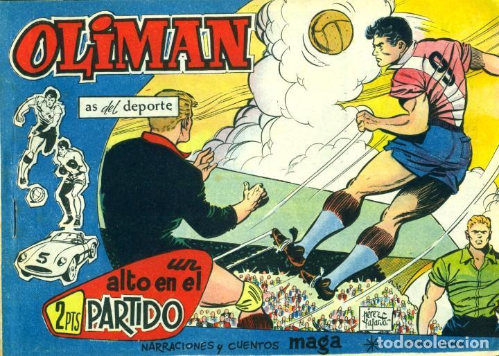Tebeos: OLIMAN (MAGA, 1961) COLECCIÓN COMPLETA: 105 EJEMPLARES MÁS EL ÁLBUM DE LA SELECCIÓN ESPAÑOLA - Foto 9 - 192234647
