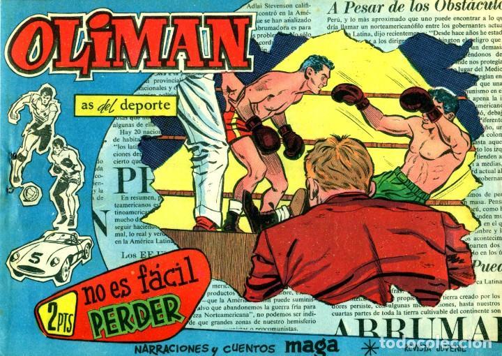 Tebeos: OLIMAN (MAGA, 1961) COLECCIÓN COMPLETA: 105 EJEMPLARES MÁS EL ÁLBUM DE LA SELECCIÓN ESPAÑOLA - Foto 13 - 192234647