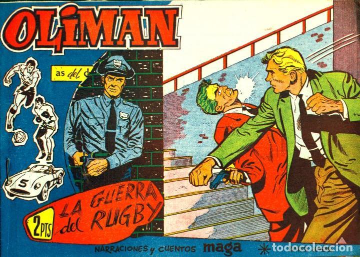 Tebeos: OLIMAN (MAGA, 1961) COLECCIÓN COMPLETA: 105 EJEMPLARES MÁS EL ÁLBUM DE LA SELECCIÓN ESPAÑOLA - Foto 15 - 192234647