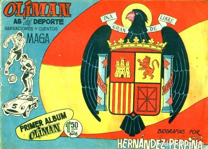 Tebeos: OLIMAN (MAGA, 1961) COLECCIÓN COMPLETA: 105 EJEMPLARES MÁS EL ÁLBUM DE LA SELECCIÓN ESPAÑOLA - Foto 16 - 192234647