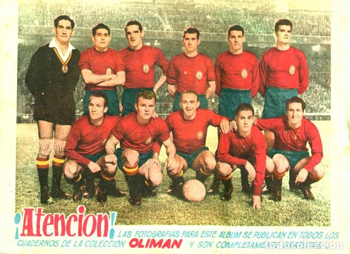 Tebeos: OLIMAN (MAGA, 1961) COLECCIÓN COMPLETA: 105 EJEMPLARES MÁS EL ÁLBUM DE LA SELECCIÓN ESPAÑOLA - Foto 17 - 192234647