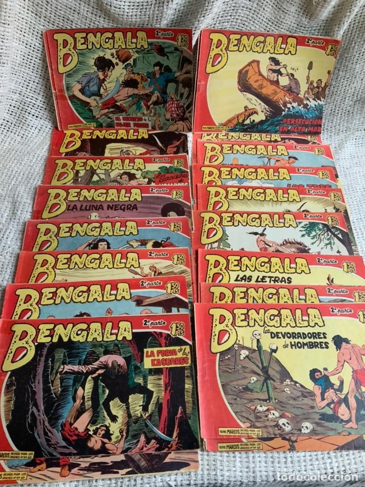 BENGALA 2ª PARTE, LOTE DE 33 EJEMPLARES ( ORIGINALES ) - EDITA : MAGA AÑOS 60 (Tebeos y Comics - Maga - Bengala)