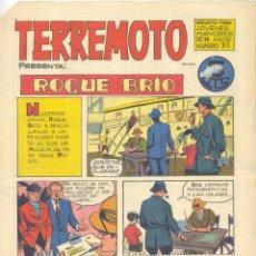 Tebeos: TERREMOTO Nº30. ROQUE BRÍO (LUIS BERMEJO) E HISTORIETA BOXEO JOSÉ ORTIZ. EDITORIAL MAGA, 1964 . Lote 192715591