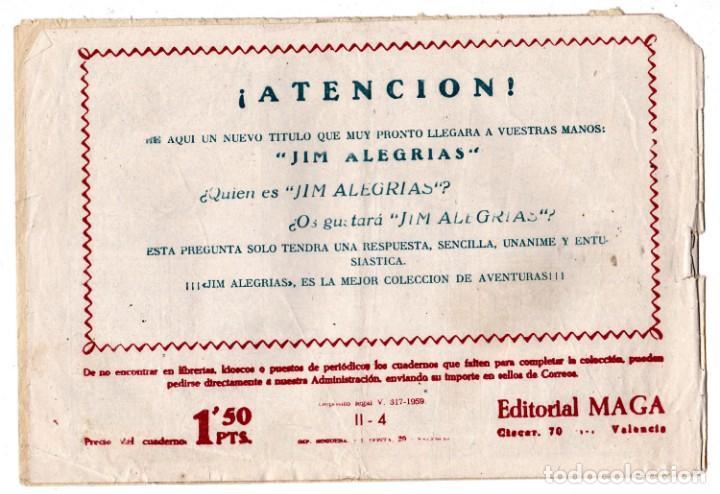 Tebeos: BENGALA 2 PARTE EDITORIAL MAGA ORIGINAL Nº II - 4 - Foto 2 - 193384041