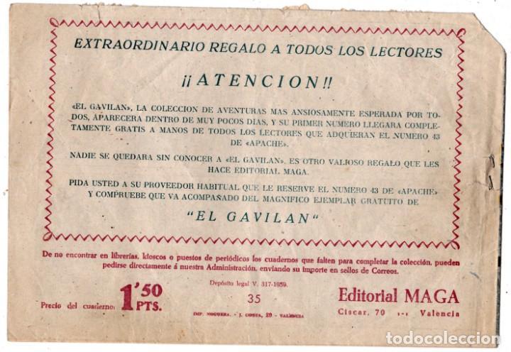 Tebeos: ORIGINAL - BENGALA - NÚMERO 35: ALAS DE MUERTE - Foto 2 - 193384815