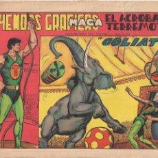 Tebeos: EL ACROBATA TERREMOTO Nº 3: GOLIAT. Lote 194279788