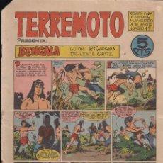 Tebeos: TERREMOTO Nº 19: BENGALA. Lote 194280906