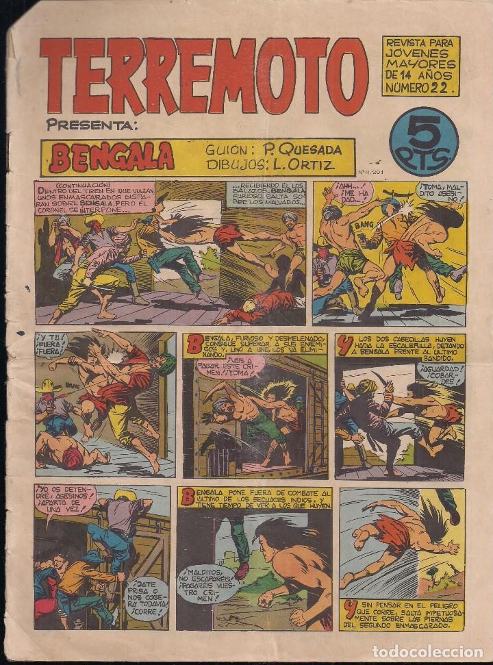 TERREMOTO Nº 22: BENGALA (Tebeos y Comics - Maga - Otros)