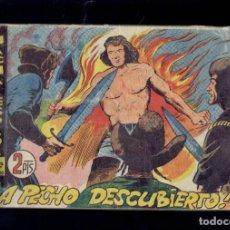 Tebeos: COLECCION HACHA Y ESPADA, A PECHO DESCUBIERTO N,34 EDITORIAL MAGA 1961. Lote 194284736