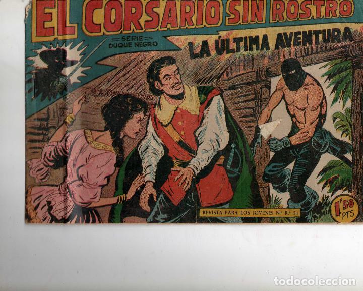 EL CORSARIO SIN ROSTRO Nº 42 ORIGINAL ( ULTIMO DE LA COLECCION ) (Tebeos y Comics - Maga - Otros)