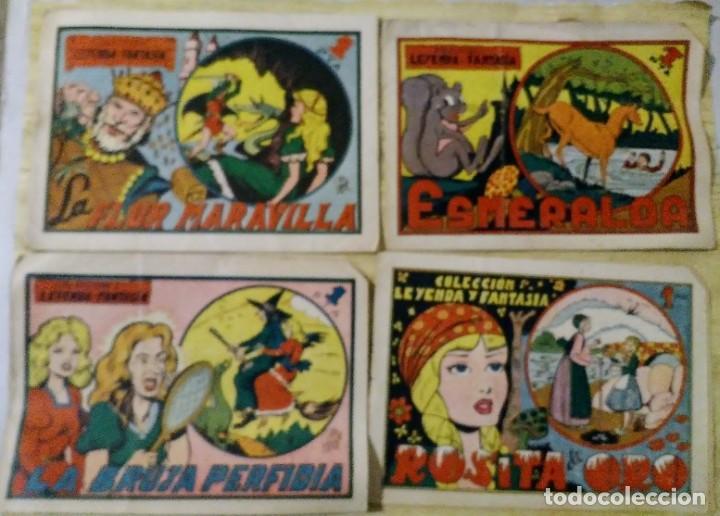 LOTE COLECCION LEYENDA Y FANTASIA 1, 4, 7 Y 10 MAGA (Tebeos y Comics - Maga - Otros)
